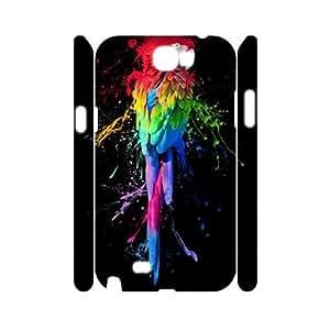 Rainbow CUSTOM 3D Hard Case for Samsung Galaxy Note 2 N7100 LMc-40441 at LaiMc