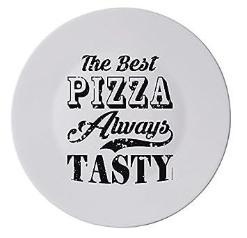 Schwarz Weiß Text Design Xl Italienische Pizza Teller 33 Cm 33