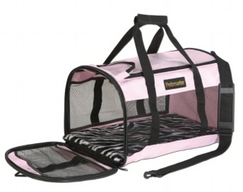 029695213588 - Petmate Soft-Sided Kennel Cab Pet Carrier,Pink/Zebra,Up to 20lbs carousel main 0