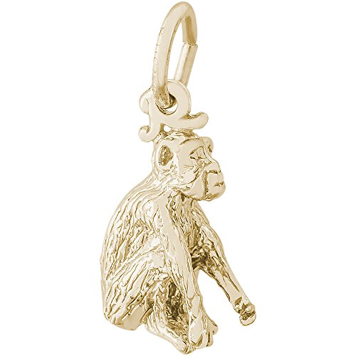 Rembrandt Charms 14K Yellow Gold Monkey Charm (12.5 x 11 mm) by Rembrandt Charms
