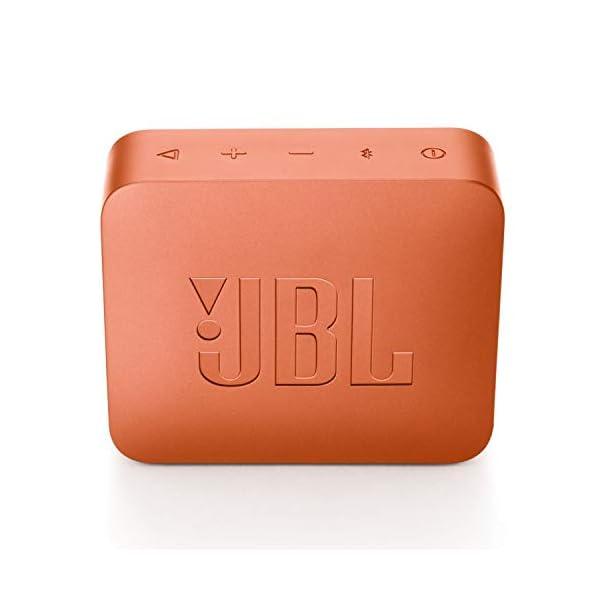 JBL Go 2 - Mini enceinte Bluetooth Portable - Étanche pour Piscine & Plage Ipx7 - Autonomie 5hrs - Qualité Audio JBL - Orange 5