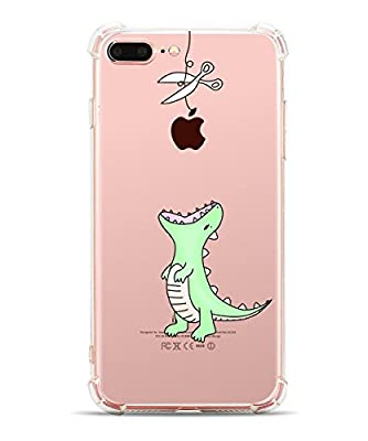 iPhone 8 Plus Case, iPhone 7 Plus Case, Hepix Cute Animals Soft TPU Bumper Protective Cover Case [5.5 inch]