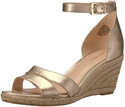 Nine West Women's Jabrina Metallic Wedge Sandal
