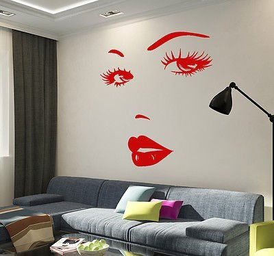 Vinyl Wall Decal Eyes Woman Face Beauty Salon Girl Room Stickers Mural - Ladies Faces Photos