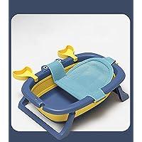 Foldable Bath Tub with Bath Net Bath Portable Shower Basin Anti Slip Bathtub.