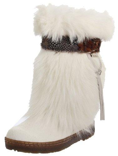 BEARPAW Kola 1290 Women's Boots Goat Fur Sheepskin White Size 11 by BEARPAW