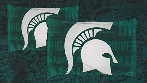 Michigan State Spartans NCAA 2 Piece Pillow Case Set