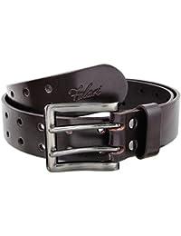 Falari Men's 39mm Double Holes Genuine Leather Belt 9004