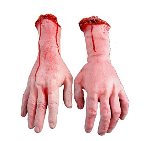 [Gillberry Human Arm Hand Bloody Dead Body Parts Haunted House Halloween Prop (left)] (Halloween Props)