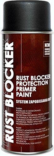 1 Stück 400 ml Rust Blocker 4in1 Metallschutzlack Rost Stop Lack schwarz matt RAL 9005 18800