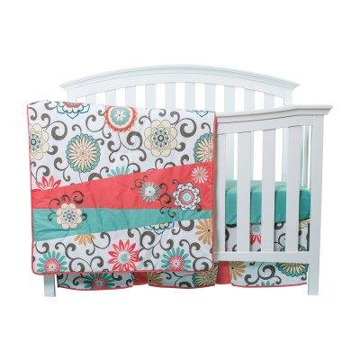 waverlyr-pom-pom-play-4-piece-crib-bedding-set-chevron-floral-design-quilt-crib-skirt-2-included-fit
