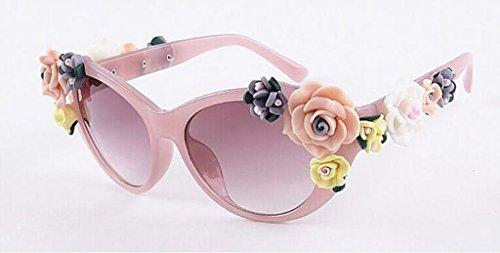 Moda sol 7 Mujeres Gafas Gafas de gafas Rosas sol Color Gafas sol 6 Barroco X521 de Flores de QQB vB0UWY