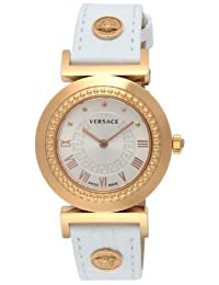 VERSACE watch VANITY White Dial Stainless Steel Case Calf leather belt P5Q80D001S001 Ladies