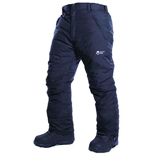 (Winter's Edge Mens Avalanche Snow Pants (Black / 4X-Large) )