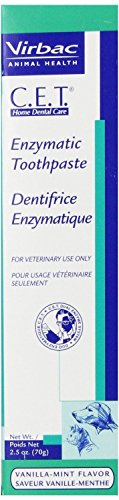 Virbac C.E.T. Enzymatic Dog & Cat Vanilla-Mint Flavor Toothpaste, 70 gram