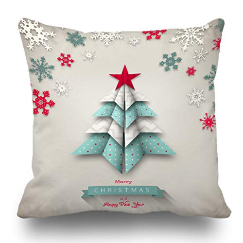 Batmerry Merry Christmas Theme Decorative Pillow Covers 18 x 18 inch,Turquoise Stars On an Aqua Background Double Sided Throw Pillow Covers Sofa Cushion Cover Lumbar Pillowcase (Aqua And Pillows Red)