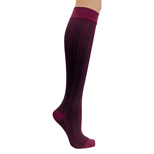 Actifi Women's 15-20 mmHg Compression Socks – Travel, Medical, Nurses, Pattern