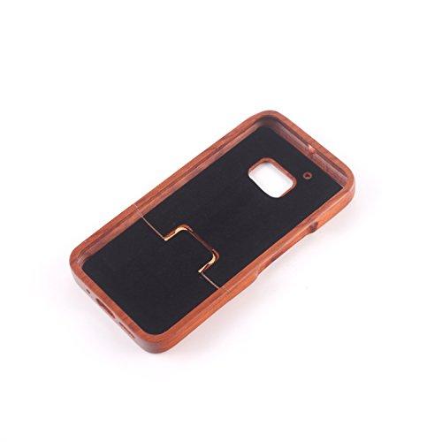 para HTC One M7 Wood Case, Vandot 2 en 1 Funda Madera Real Rigida Cubierta Carcasa Protectiva Tapa Trasera Anti-Shock Caja del teléfono móvil para HTC One M7 / HTC M7, Diseño del árbol de coco Madera 15
