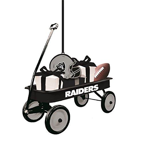 Team Sports America Oakland Raiders NFL Team Wagon Ornament, Set of 4 ()
