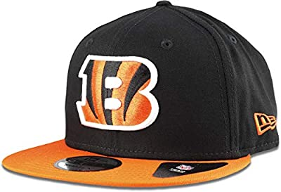 New Era Cincinnati Bengals Hat NFL Black Orange 2Tone 9FIFTY Snapback Adjustable Cap Adult One Size