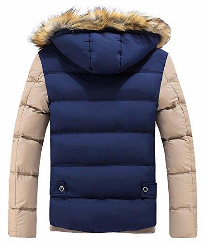 1 Caldo Inverno Incappucciato Pesce Palla Oggi Outwear Casuale Mens uk Cappotto Faux Giacca nzw1xpaq7T