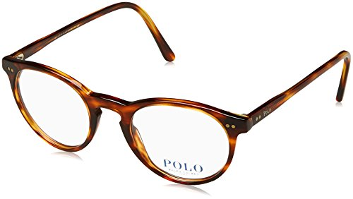 Polo Men's PH2083 Eyeglasses Havana Striped - Polo Glasses Prescription