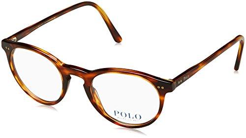 Polo Men's PH2083 Eyeglasses Havana Striped - Men For Eyeglasses Round