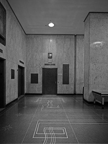 24 x 36 B&W Giclee Print Lobby, F. Edward Hebert Federal Building, New Orleans, Louisiana 2013 Highsmith 80a