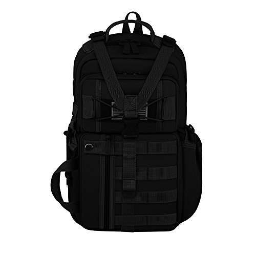 East West U.S.A RT525 Tactical Molle Assault Sling Shoulder Cross Body One Strap Backpack, Black