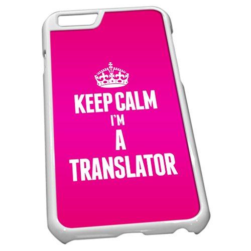 Weiß Schutzhülle für iPhone 62697Rosa Keep Calm I 'm a Übersetzer