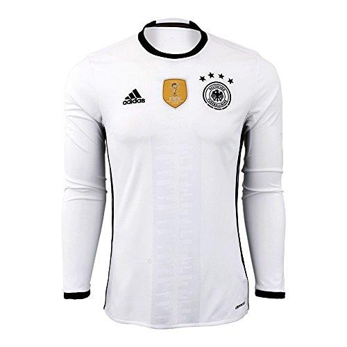 レンディション吸い込むポスト印象派Adidas Germany Home Long Sleeve Jersey [ホワイト/ブラック]