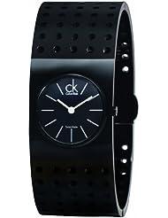 CK Calvin Klein Womens K8324302 Black Grid Watch