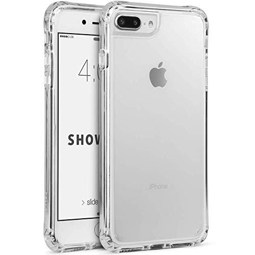 Cellairis - Showcase, Cell Phone Case for Apple iPhone 7 Plus, for iPhone 8 Plus, Anti-Scratch, Shock-Absorption Bumper Cover - (Clear/Clear) from Cellairis