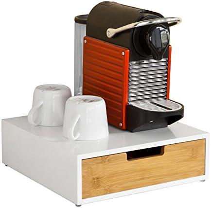 SoBuy FRG179-WN Portacapsule nespresso Capsule e Porta cialde Porta Macchina da caffè
