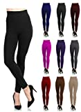 Soft and Warm Leggings With Comfortable Waist - Plush Fleece Lining - 40+ Colors