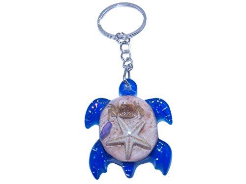 Tortoise Sea Turtle Pendant Key Chain for Purse or Handbag or Cell Phone Pendant Charm (Blue)