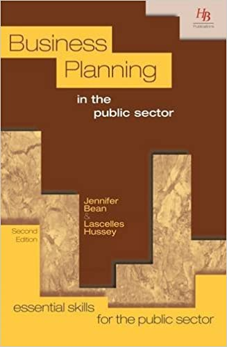 Book Business Planning in the Public Sector (Essential Skills for the Public Sector) by Jennifer Bean (2011-11-01)