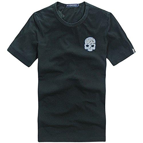 憤る民兵医学HYDROGEN Tシャツ メンズ ゴルフ コットン 綿 100% 半袖 夏 刺繍 7578 [並行輸入品]