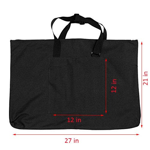 Ylucky Canvas Art Portfolio Bag Artist Carry Shoulder Bag Drawboard Bags for Drawing Sketching Painting Art Case Travel Art Supplies Tote Bag Carry Storage Sketch Board Art Materials Organization (Best Architecture Student Portfolio)