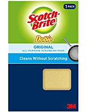 """Scotch-Brite Dobie All Purpose Cleaning Pad 720, 4.3"""" Length x 2.6"""" Width x 1/2"""" Thick, (Case of 24)"""