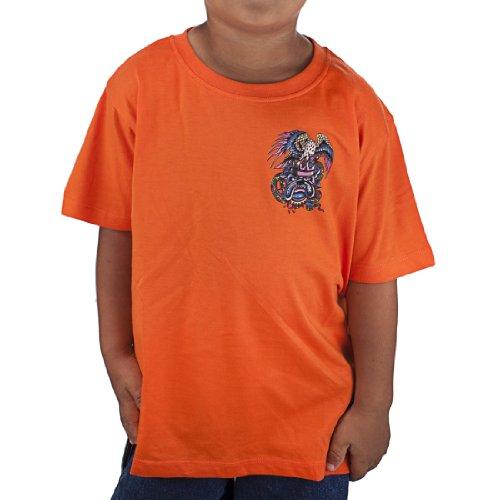 - Ed Hardy Toddlers Bulldog Basic Tshirt - Orange - 5/6