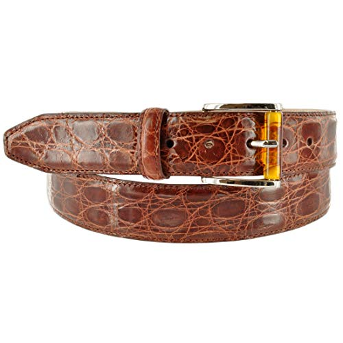 Martin Dingman Mens Belt Dawson Genuine Crocodile Usa Dawson-Chestnut TAN 38