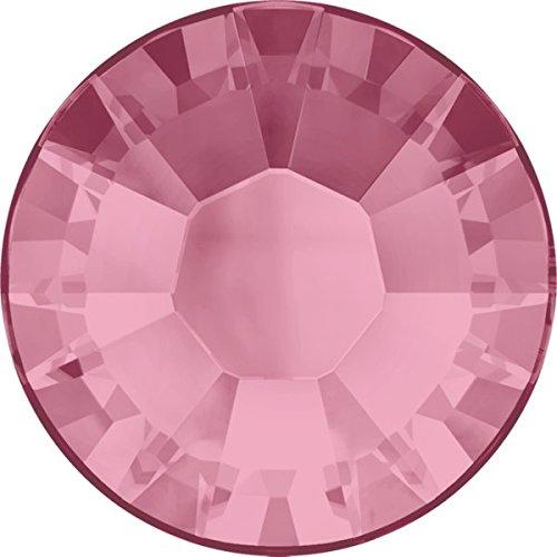 Swarovski Xilion Rose Flatbacks, Light Rose Rhinestones Art. 2028, size ss40 (40ss, 8.5mm), 144 pieces