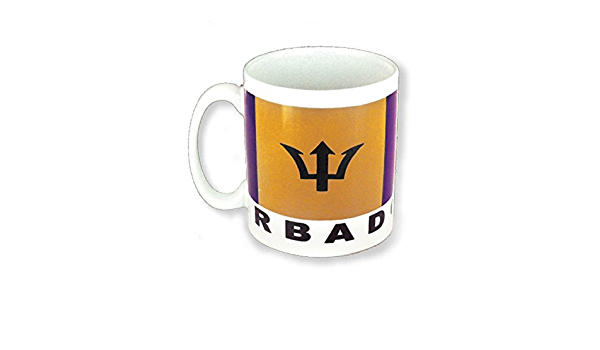 Amazon Com Mug Barbados Flag Souvenir Gift Ceramic Coffee Mug 11 Ounce Coffee Cups Mugs