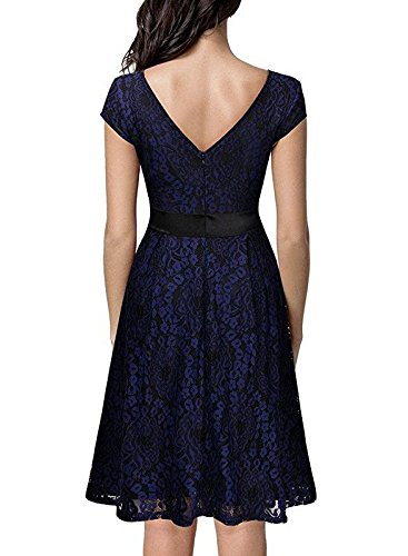 AU Dress Sleeve Lace 8 Black Flare Piece Sexy Blue One Fit Multicolored and 16 Size Bslingerie Short amp; Uz71nq