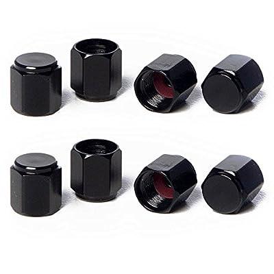 Circuit Performance VC5 Series Black Aluminum Valve Stem Caps (8 Pieces): Automotive