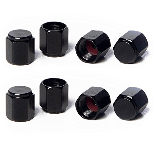 (Circuit Performance VC5 Series Black Aluminum Valve Stem Caps (8 Pieces))