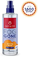 Optix 55 Anti-Fog Spray for Non-Reflective Lenses | Prevents Fogging of Glass or Plastic Windows, Mirrors, Eyewear...