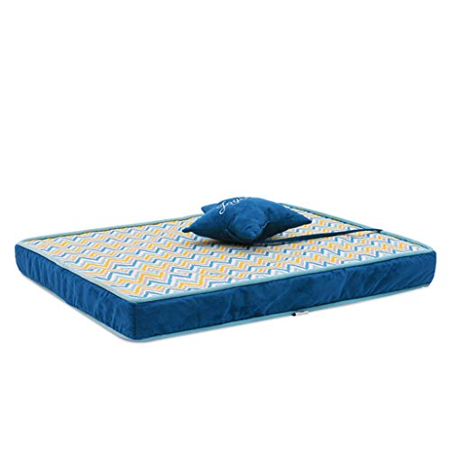 Rattan Cool Cover (PLDDY Dog Bed & Crate Mat,Double-Sided Large Padded Pet Bolster Bed,with a Pillow Anti-Slip Matress Small Medium Large Pets,Washable Cover Massage and Cool (Color : #1, Size : XL))