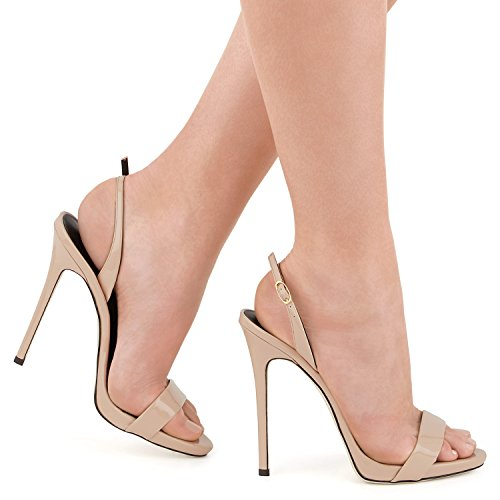 Cintura uBeauty Sandali Sandali Sexy con Beige Sandali della Tacco Caviglia della Alto 8Hxw8r4aq